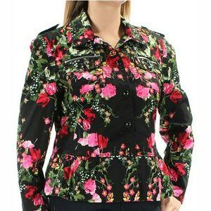 INC International Concepts Floral Peplum Jacket